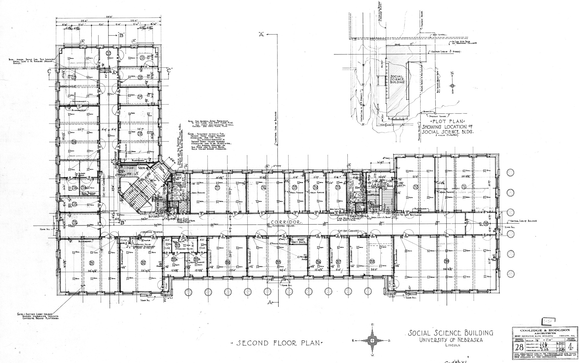 UNL Historic Buildings Social Sciences Hall CBA Building Plans