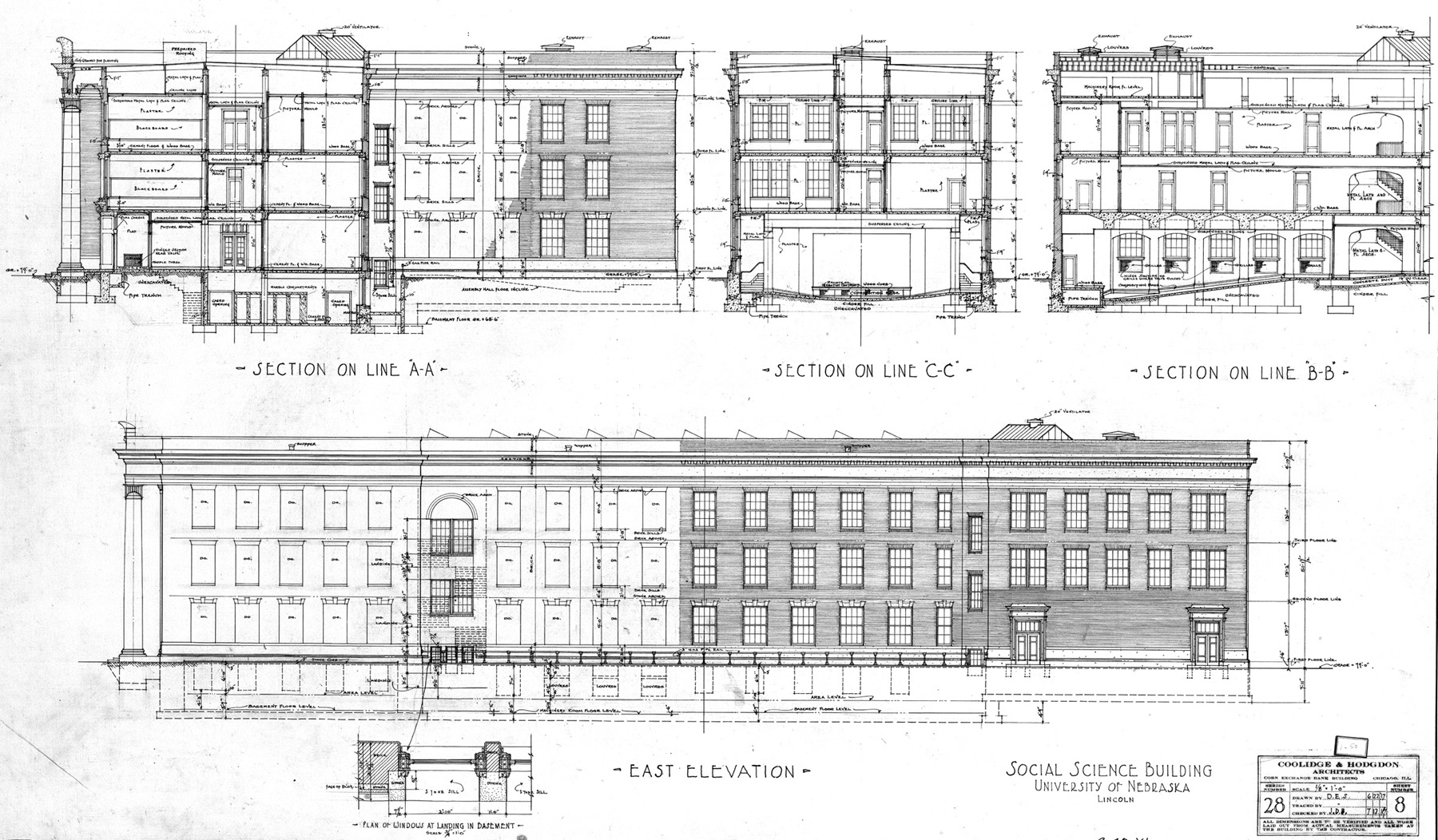 UNL Historic Buildings Social Sciences Hall CBA Building Plans