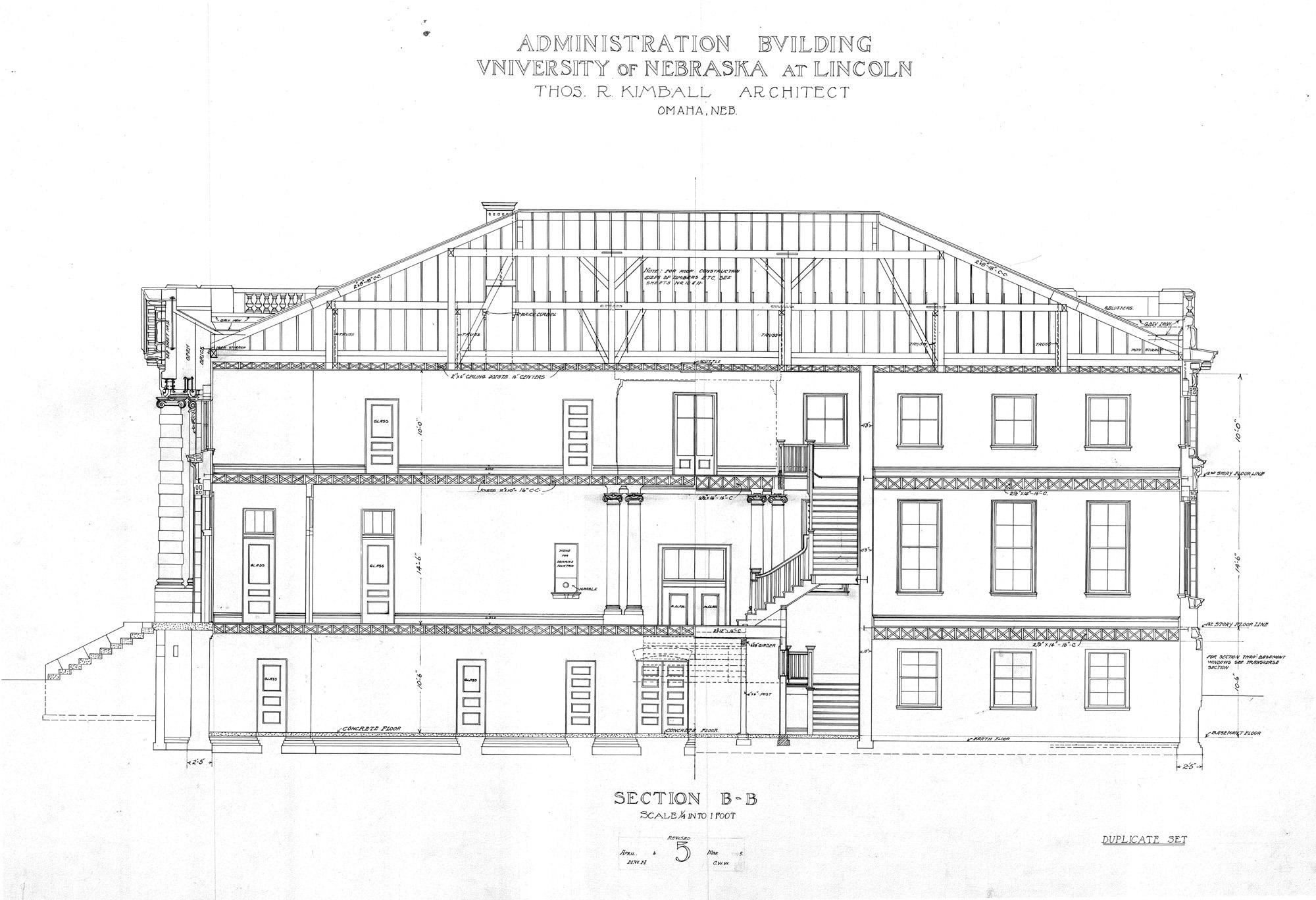 View Plan Image. UNL Historic Buildings   Administration Building  Old  Building Plans