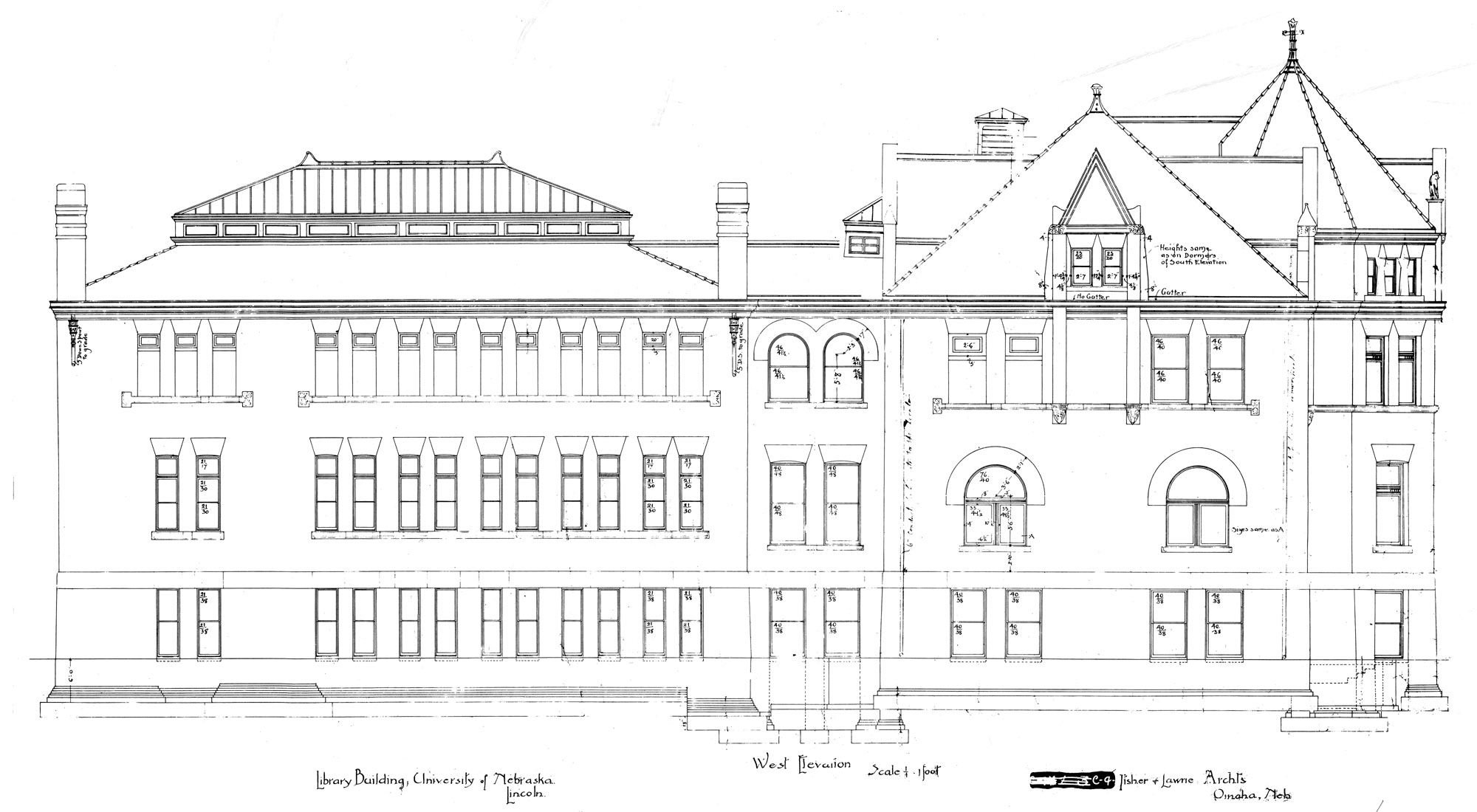 UNL Historic Buildings Library Old Building Plans