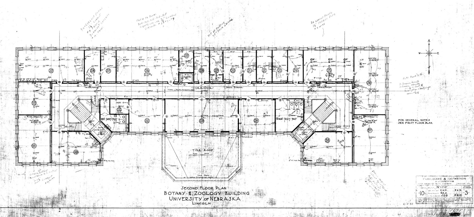 UNL Historic Buildings Bessey Hall Building Plans